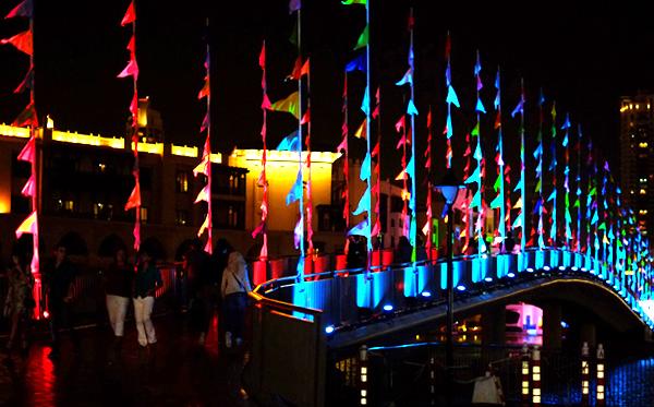 Bridge of Penants - Dubai Festival of Lights 2014