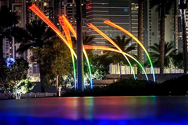 Huge Reeds - Dubai Festival of Lights 2014