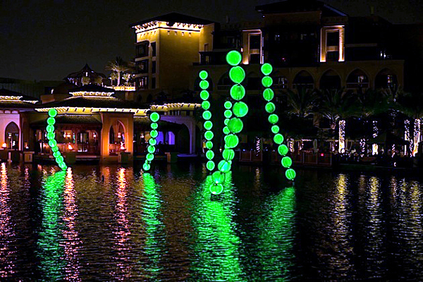 Luminous Algae - Dubai Festival of Lights 2014
