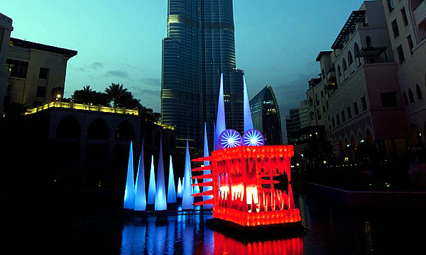 The Water Dragon - Dubai Festival of Lights 2014