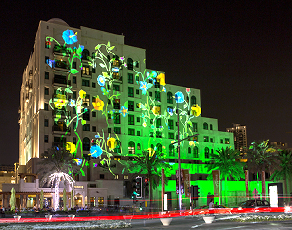 Vegetalization - Dubai Festival of Lights 2014