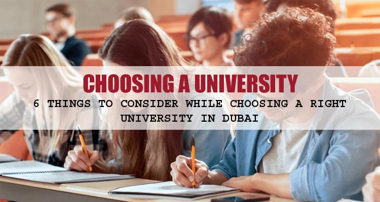 Choosing a University in Dubai