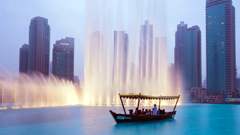 Man-made Tourist Attraction Dubai Fountains