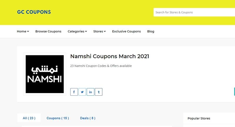Namshi GC Coupons