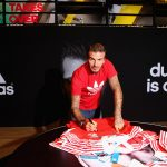 David Bekham Mobbed by Fans at Adidas Store Opening in Dubai
