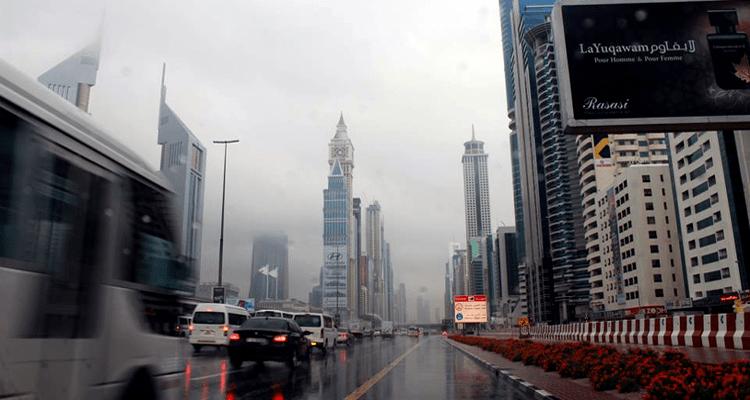 Rainfall in Dubai