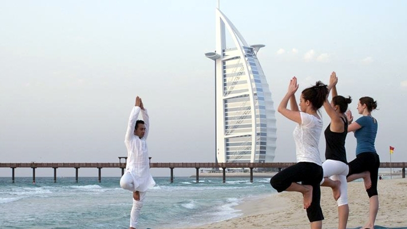 Excercising in Dubai