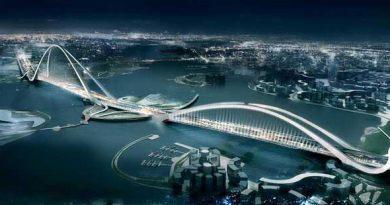 world tallest arch bridge dubai
