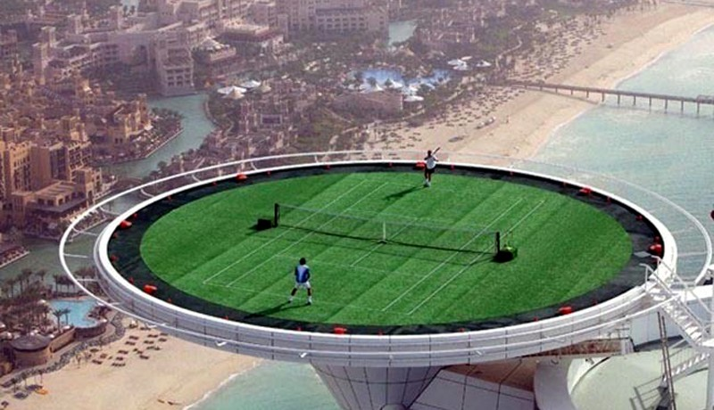 Highest Tennis Court